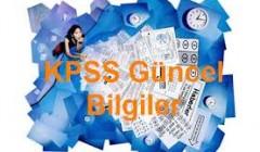 2014 KPSS Güncel Bilgiler